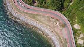 Estrada litoral à parte cênico 1 do ponto do monte de Nang Phaya de 2 video estoque