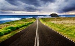 Estrada litoral foto de stock