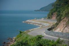 Estrada litoral fotografia de stock