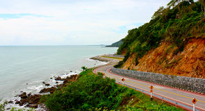 Estrada litoral foto de stock royalty free