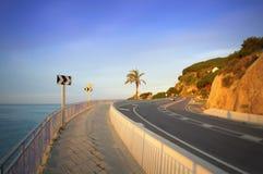 Estrada litoral cênico, Espanha fotografia de stock
