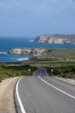 Estrada litoral do parque nacional de Innes foto de stock