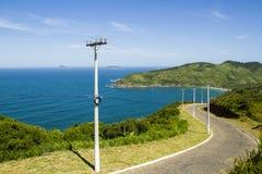 Estrada litoral em Buzios Brasil Fotografia de Stock Royalty Free