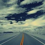 Estrada livre em um dia ensolarado Imagem de Stock