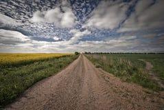 Estrada longa do cascalho Fotografia de Stock Royalty Free