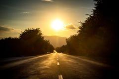 Estrada longa do traight Fotos de Stock
