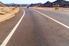 Estrada a Luxor de Safaga Fotos de Stock Royalty Free