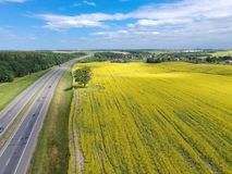 A estrada a Minsk imagens de stock royalty free
