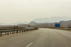 Estrada moderna em Irã central Fotografia de Stock Royalty Free