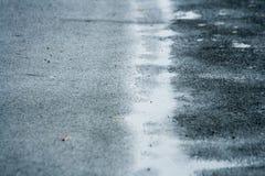 Estrada molhada Fotos de Stock