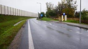 Estrada molhada Foto de Stock
