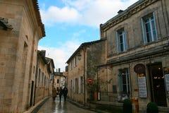 estrada molhada da vila após a chuva Imagem de Stock