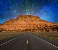 Estrada à montanha Foto de Stock Royalty Free