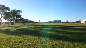 A estrada monumental de Brasília fotografia de stock
