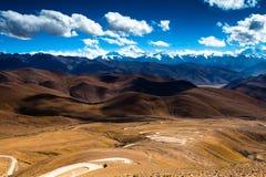 Estrada a Mt. Chomolungma Fotografia de Stock Royalty Free