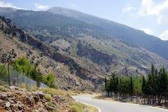 Estrada na área de montanha Imagem de Stock Royalty Free
