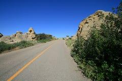 Estrada na Escrita-Em-Pedra Fotografia de Stock