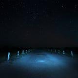 Estrada na escuridão Imagem de Stock Royalty Free