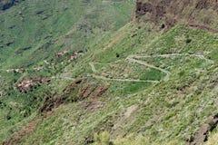 Estrada na ilha de Tenerife da garganta de Masca fotos de stock