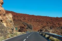 Estrada na lava congelada na cratera Imagens de Stock