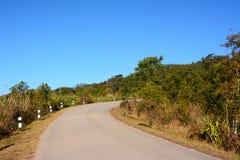 Estrada na montanha de Phu Rua Foto de Stock Royalty Free