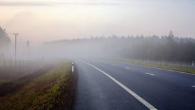 Estrada na névoa da manhã Imagem de Stock Royalty Free