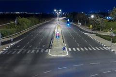 Estrada na noite Imagens de Stock Royalty Free