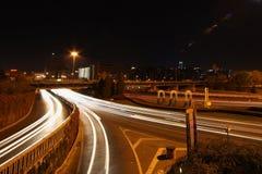Estrada na noite Fotos de Stock Royalty Free