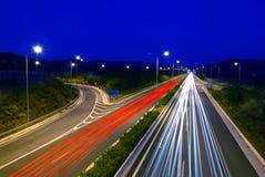 Estrada na noite Imagem de Stock