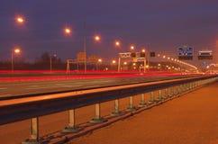 Estrada na noite Imagem de Stock Royalty Free
