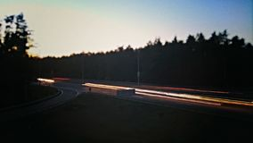 Estrada na noite Fotos de Stock