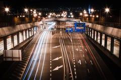 Estrada na noite Foto de Stock Royalty Free