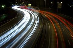 Estrada na noite pelo porto 3 Imagem de Stock