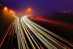 Estrada na obscuridade Fotografia de Stock