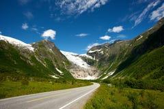 Estrada na paisagem escandinava Imagem de Stock