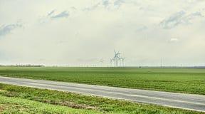 Estrada na planície Foto de Stock