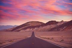Estrada na pradaria Fotografia de Stock