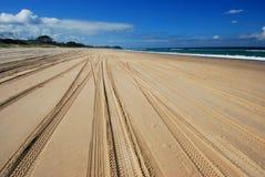 Estrada na praia Fotos de Stock Royalty Free