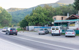 Estrada na Sérvia oriental Fotos de Stock Royalty Free