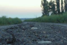 Estrada na vila Foto de Stock