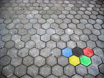 Estrada nas cores olímpicas Imagens de Stock Royalty Free