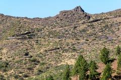 A estrada nas montanhas Fotos de Stock