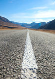 Estrada nas montanhas de Mongólia Fotos de Stock Royalty Free