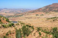 Estrada nas montanhas etíopes nortes Fotografia de Stock