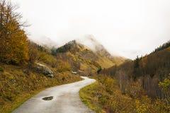 Estrada nas nuvens Imagem de Stock Royalty Free