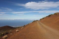 A estrada nas nuvens Imagem de Stock Royalty Free
