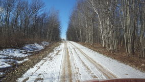 Estrada nevado da praia fotografia de stock