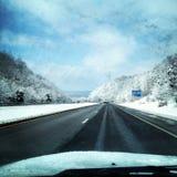 Estrada nevado Kentucky imagem de stock
