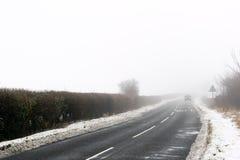 Estrada nevoenta Imagem de Stock