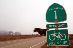 Estrada No.1 de Califórnia Imagens de Stock